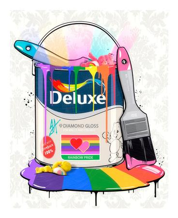 Deluxe Paint Can - Care Bears