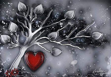 Grey Tree Red Heart 506