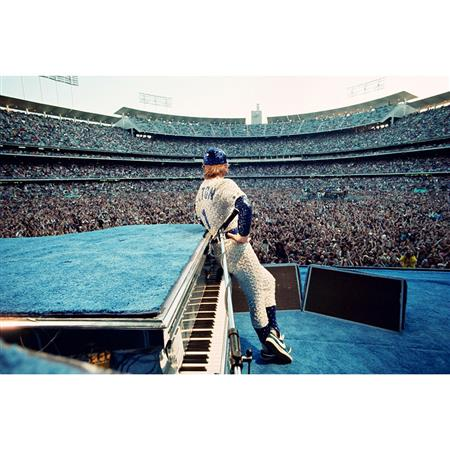 Elton John performs at Dodger Stadium